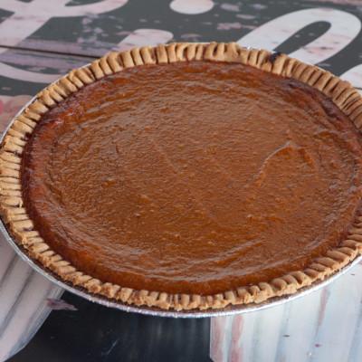 pumpkin & sweet potato pie